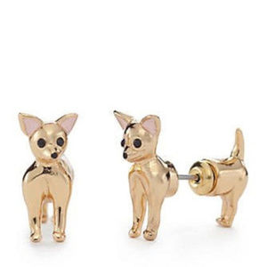 KATE SPADE GoldPlate Chihuahua Ear Jacket Earrings